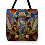 Tapestry Of Gods - Chicomecoatl Tote Bag