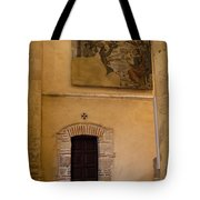 Tapestry Wall At Church Of The True Cross Tote Bag