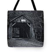 Tappan Covered Bridge Bw Tote Bag