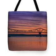 Tappan Zee Bridge Sunset Tote Bag