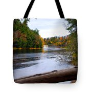 Taquamenon River And Lower Falls  Tote Bag