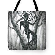 Tar Girl In A Tree Tote Bag