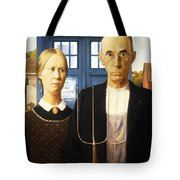 Tardis V Grant Wood Tote Bag
