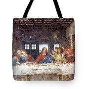Tardis V Leonardo Da Vinci Tote Bag