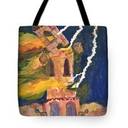 Tarot 16 The Tower Tote Bag