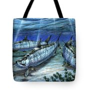 Tarpon In Paradise - Sabalo Tote Bag by Terry Fox