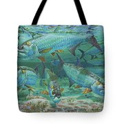 Tarpon Rolling In0025 Tote Bag by Carey Chen