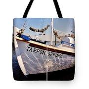 Tarpon Springs Spongeboat Tote Bag by Benjamin Yeager