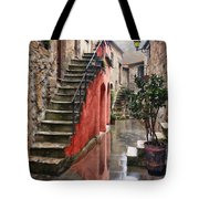 Tarquinian Red Stairs Tote Bag