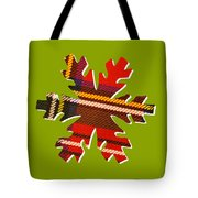 Tartan Snowflake On Green Tote Bag