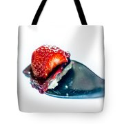 Taste Sensation On A Silver Spoon Tote Bag