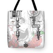 Tattoo Machine Patent Tote Bag by Dan Sproul