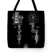 Tattooing Machine 3 Patent Art 1891 Tote Bag by Daniel Hagerman