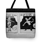 Tattoos And Fire In Black And White Tote Bag