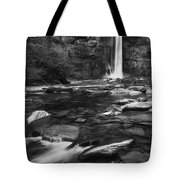 Taughannock Black And White Tote Bag