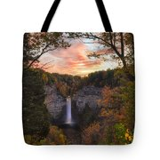 Taughannock Falls Autumn Sunset Tote Bag