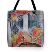 Taughannock Falls Ny In Autumn Tote Bag