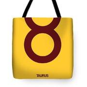Taurus Zodiac Sign Brown Tote Bag