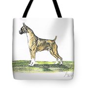 Tawny Boxer Tote Bag by Joann Renner