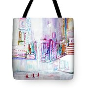 Taxi Eight Show Time Tote Bag