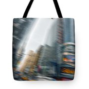 Taxi On Times Square Tote Bag