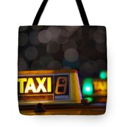 Taxi Signs Tote Bag