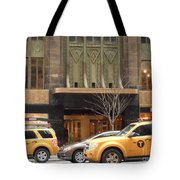 Taxis In The City Tote Bag