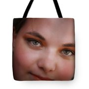 Taylor And Her Eyes Tote Bag