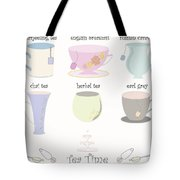 Tea Cup Collection Vector Tote Bag