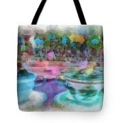 Tea Cup Ride Fantasyland Disneyland Pa 01 Tote Bag