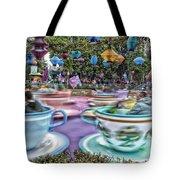 Tea Cup Ride Fantasyland Disneyland Tote Bag by Thomas Woolworth