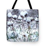 Tea Cups Of Snow Tote Bag