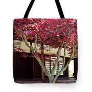 Tea House Thru The Maple Tote Bag