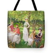 Tea In The Garden Tote Bag