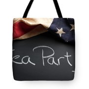 Tea Party Political Sign On Chalkboard Tote Bag