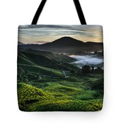 Tea Plantation At Dawn Tote Bag