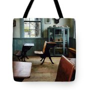 Teacher - One Room Schoolhouse With Clock Tote Bag