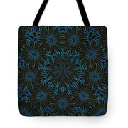 Teal And Brown Floral Abstract Tote Bag