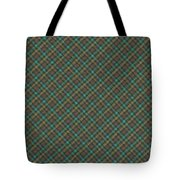 Teal And Green Diagonal Plaid Pattern Fabric Background Tote Bag