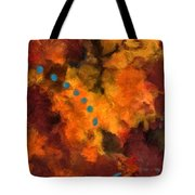 Teal Dots Tote Bag