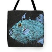 Gyotaku Triggerfish Tote Bag by Captain Warren Sellers