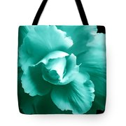Teal Green Begonia Floral Tote Bag by Jennie Marie Schell