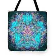 Teal Starfish Tote Bag