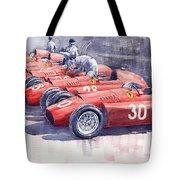 1956 Team Lancia Ferrari D50 Type C 1956 Italian Gp Tote Bag
