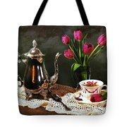 Tea'n Tulips Tote Bag