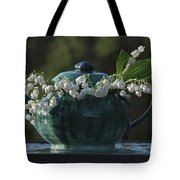 Teapot And Lily Of The Valley Tote Bag