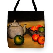 Teapot With Some Fruit Tote Bag