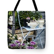 Teapots And Flowers Tote Bag