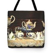 Teapots On Grundge Tote Bag