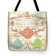 Teas And Coffees Sign Tote Bag
